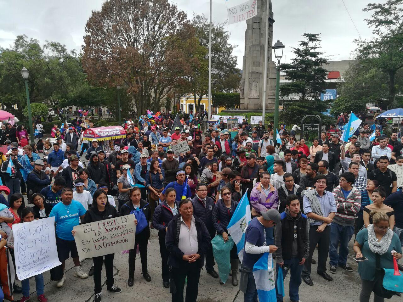 Protestas Cunoc Xela