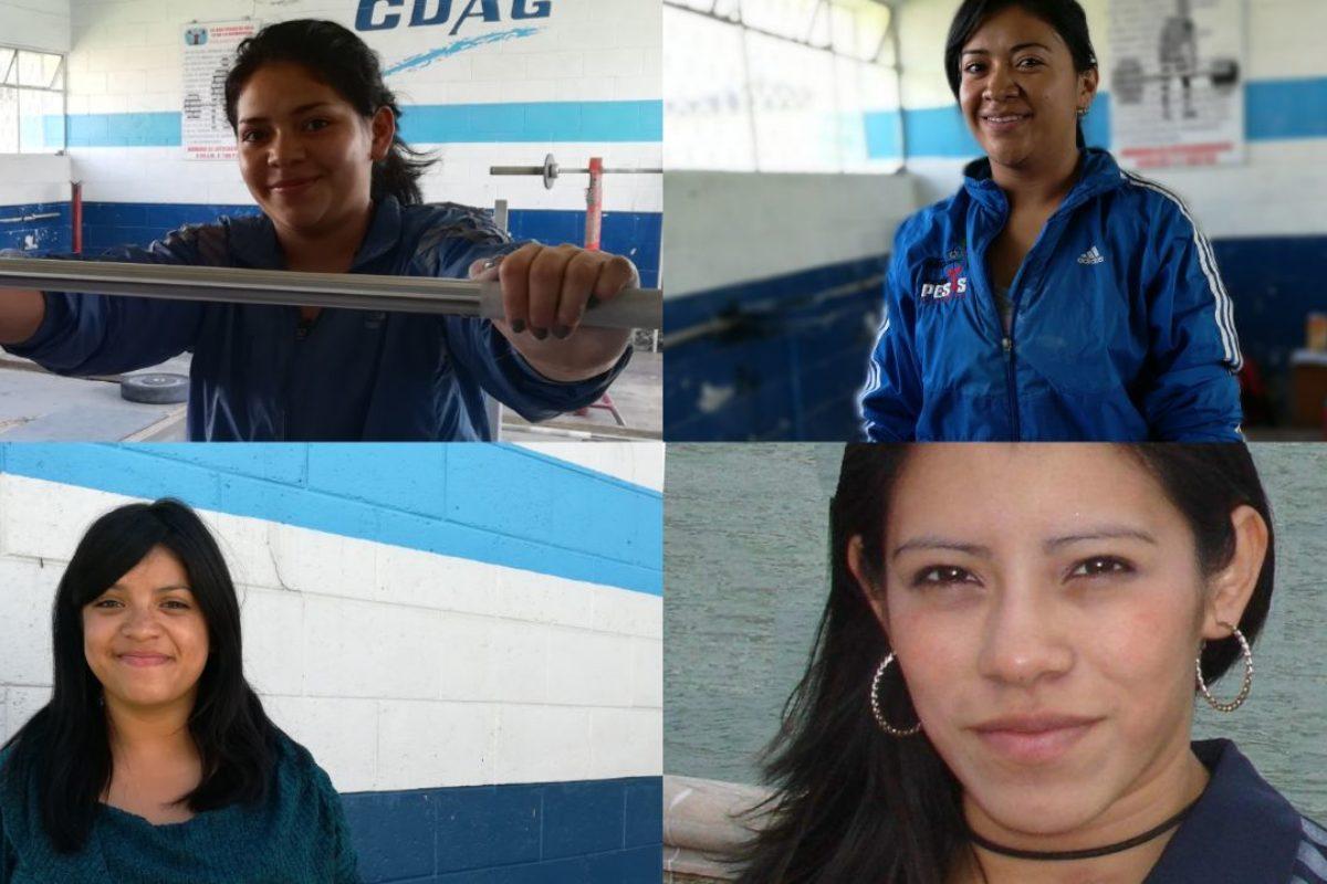 4 mujeres pesistas en busca de medallas