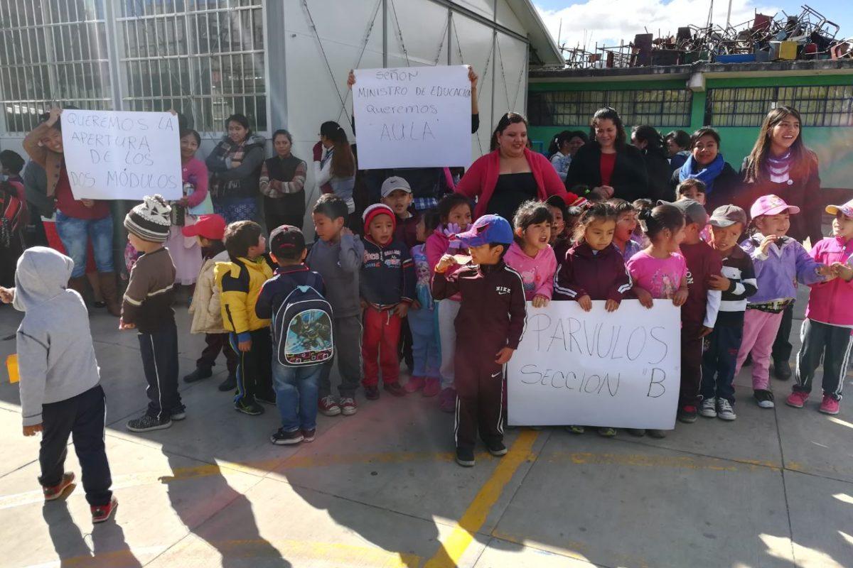 Más de 60 niños carecen de espacio para estudiar