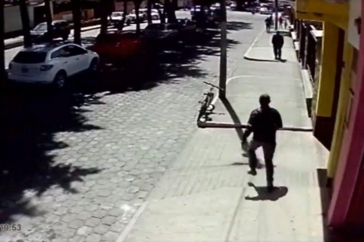 VIDEO: Ladrón huye en bici tras robar celular