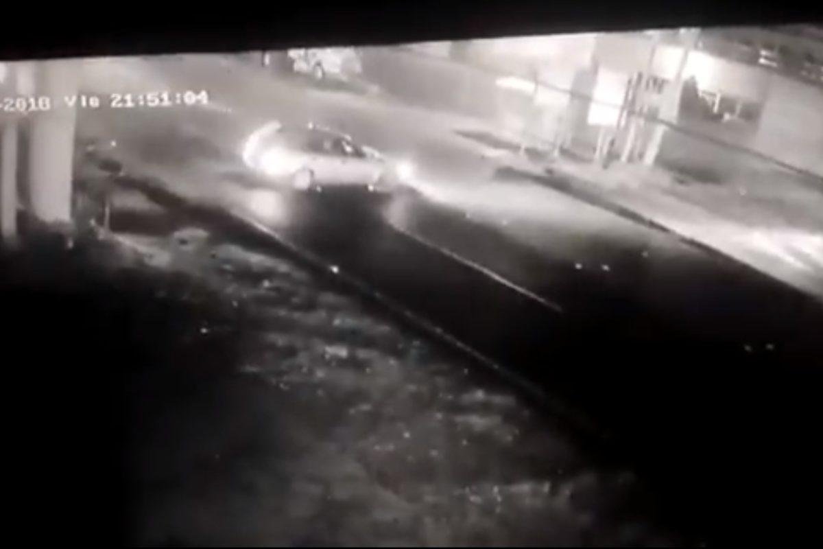 Accidente queda grabado en video