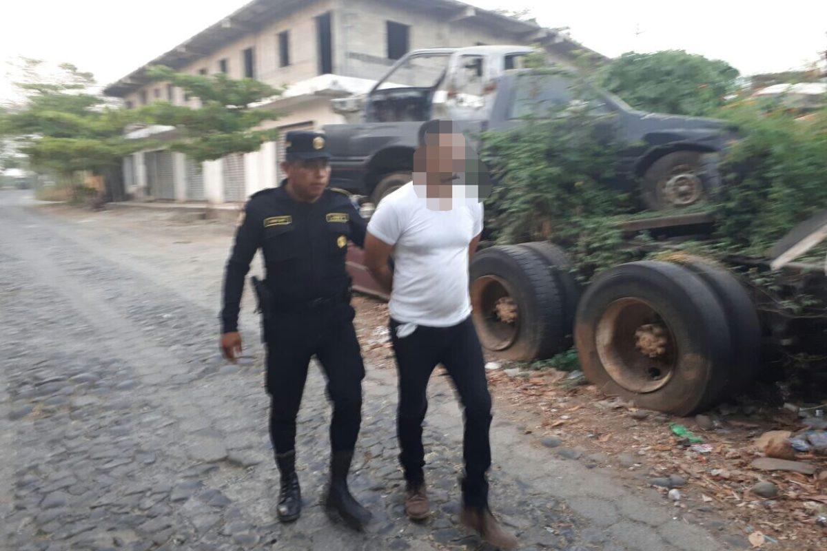 Un capturado en persecución policial