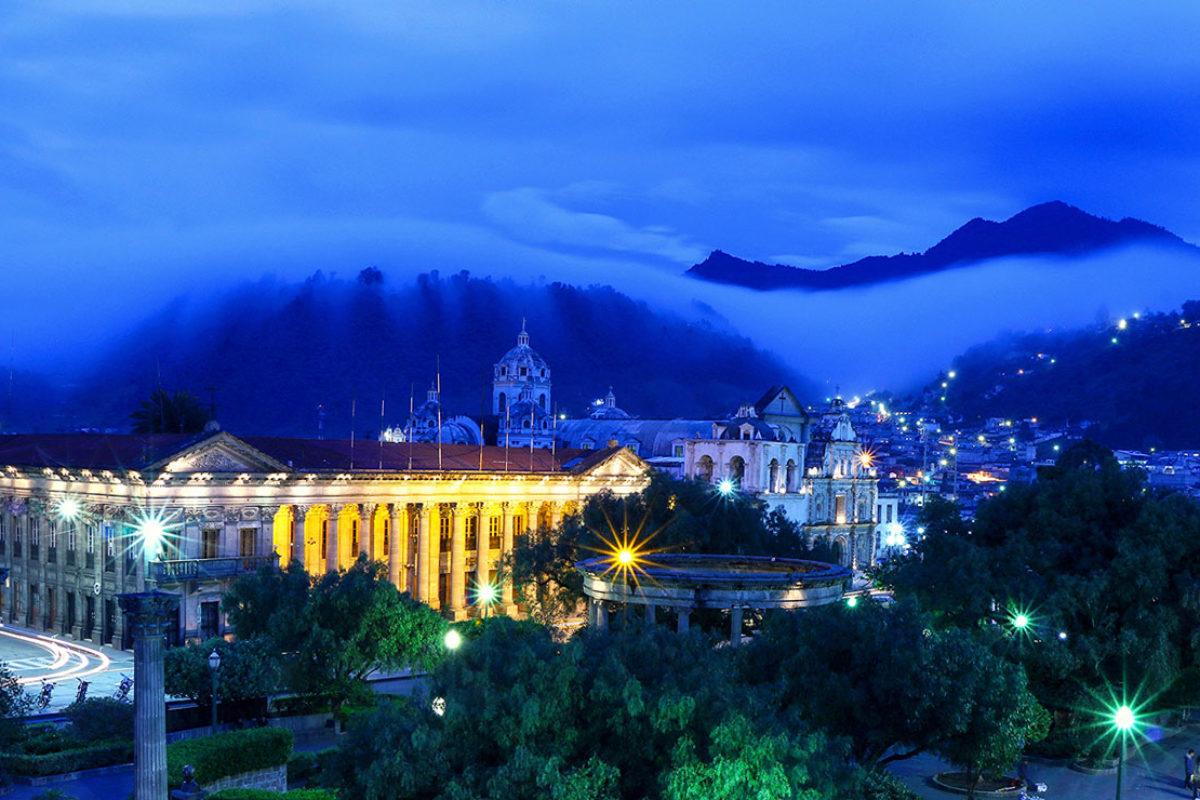La ciudad de Quetzaltenango