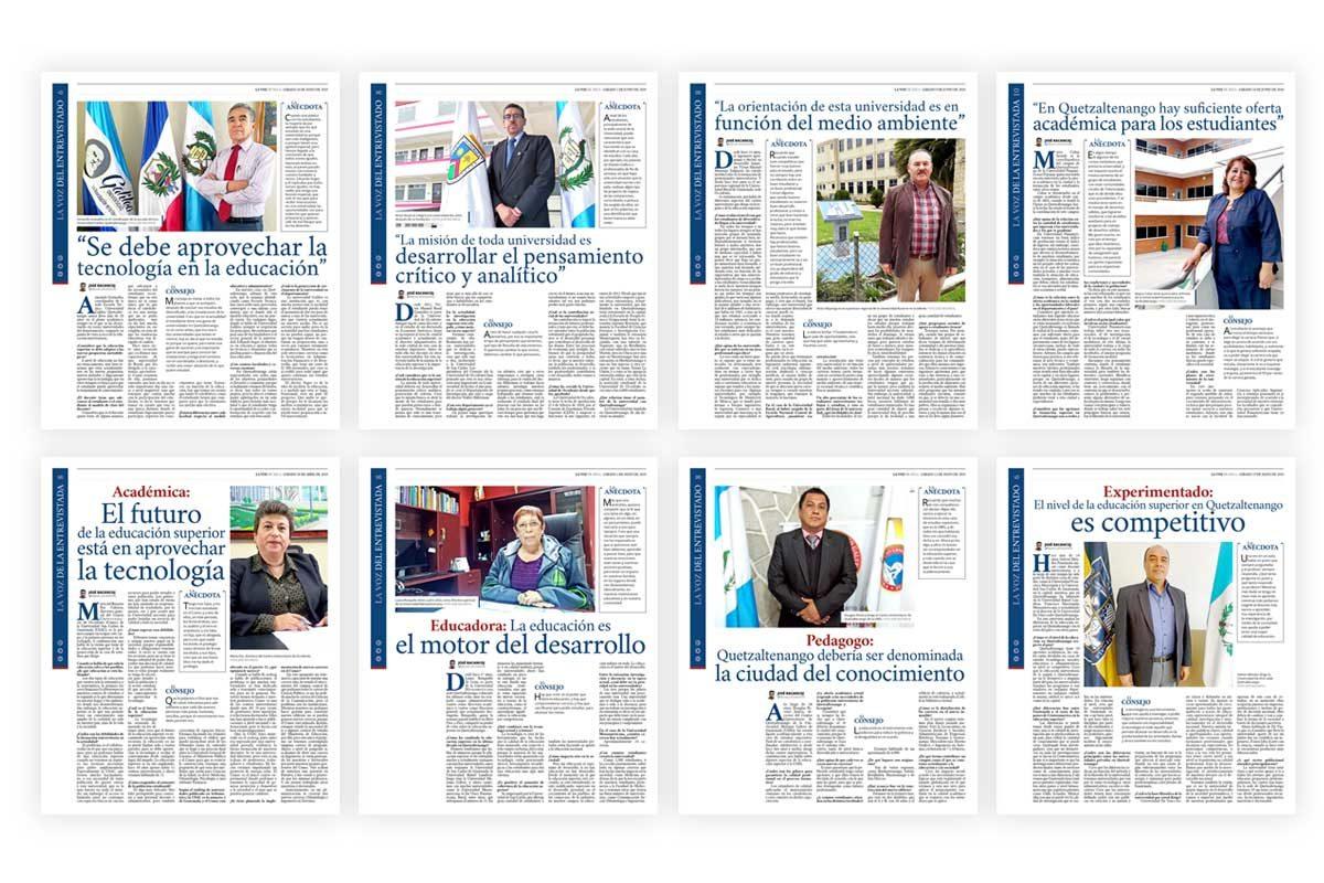 Serie de entrevistas con directores de universidades