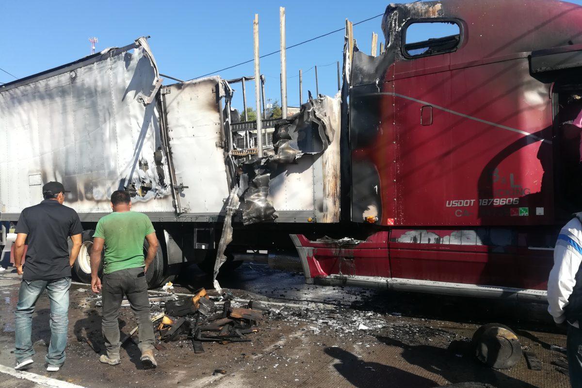 Incendio en tráiler deja Q170 mil en pérdidas