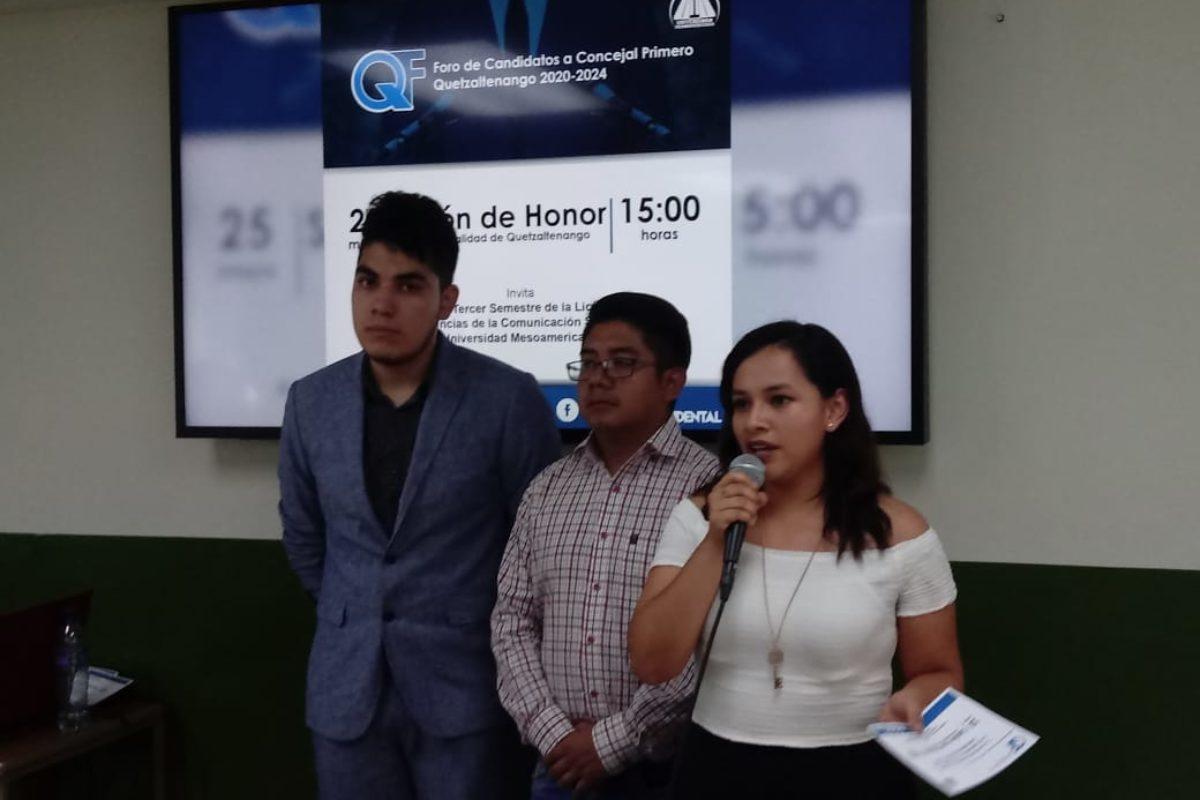 Universitarios cuestionarán a candidatos a concejal primero
