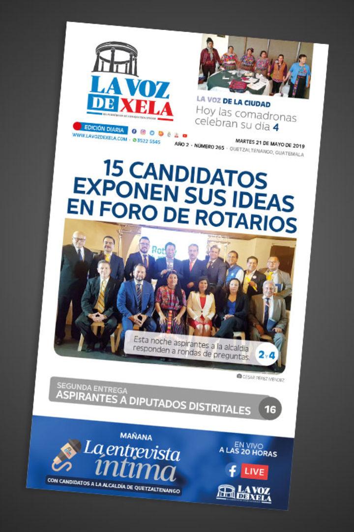 """<span class=""""hot"""">La voz de impacto <i class=""""fa fa-bolt""""></i></span> Lee el periódico digital nocturno del martes 21 de mayo   #265"""