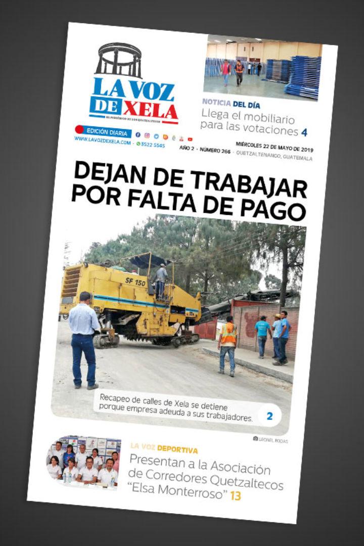 """<span class=""""hot"""">La voz de impacto <i class=""""fa fa-bolt""""></i></span> Lee el periódico digital nocturno del miércoles 22 de mayo   #266"""