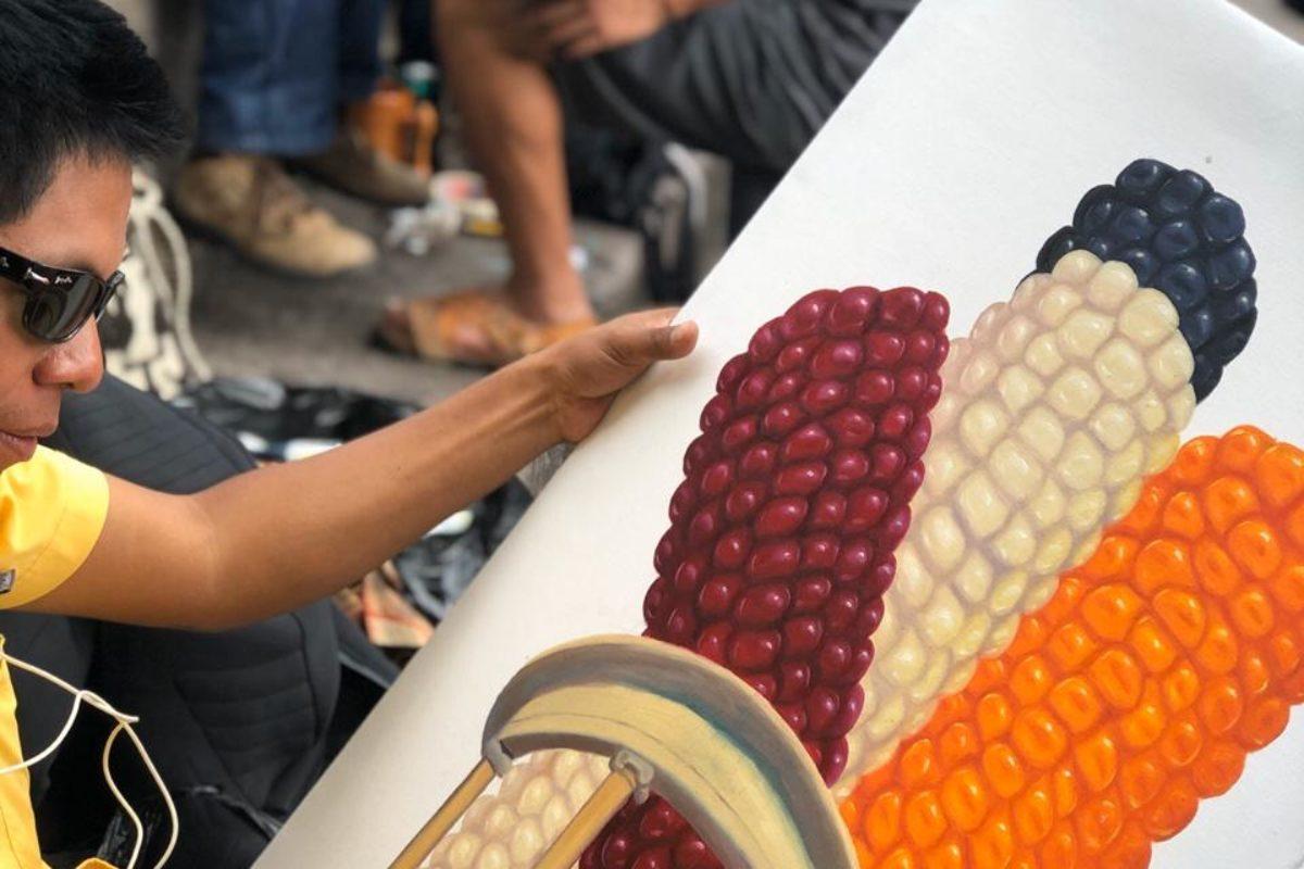 Pintan en calles de Xela