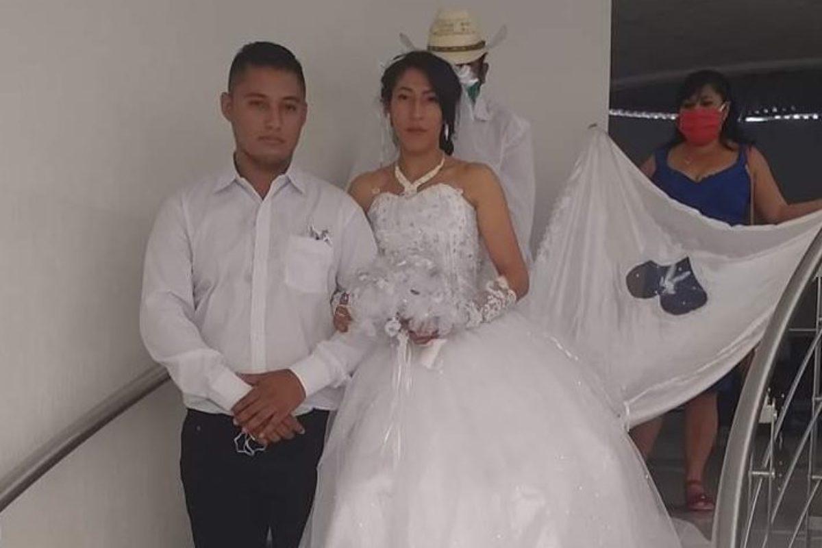 Pese a prohibición de eventos pareja contrae matrimonio en Jutiapa