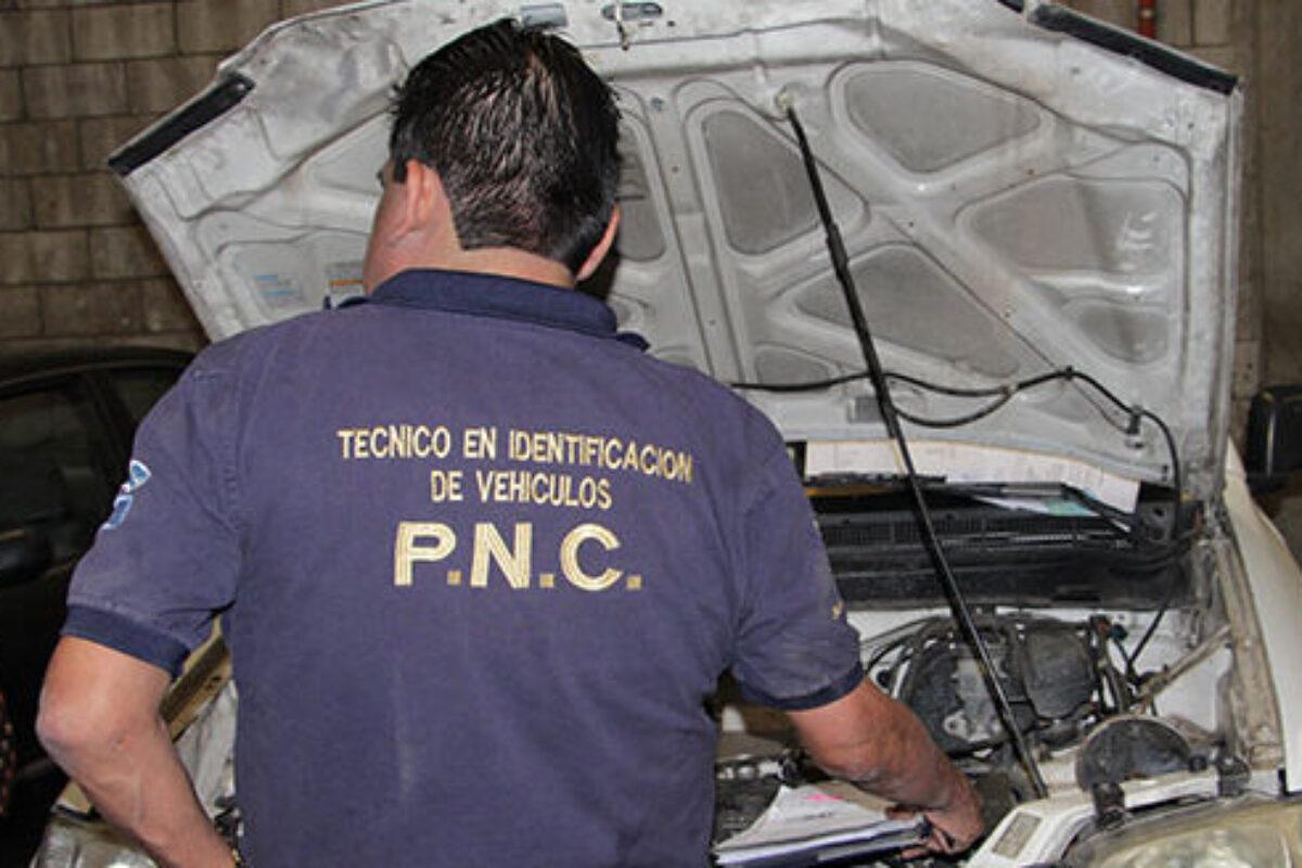 PNC retoma expertaje de vehículos con nueva modalidad