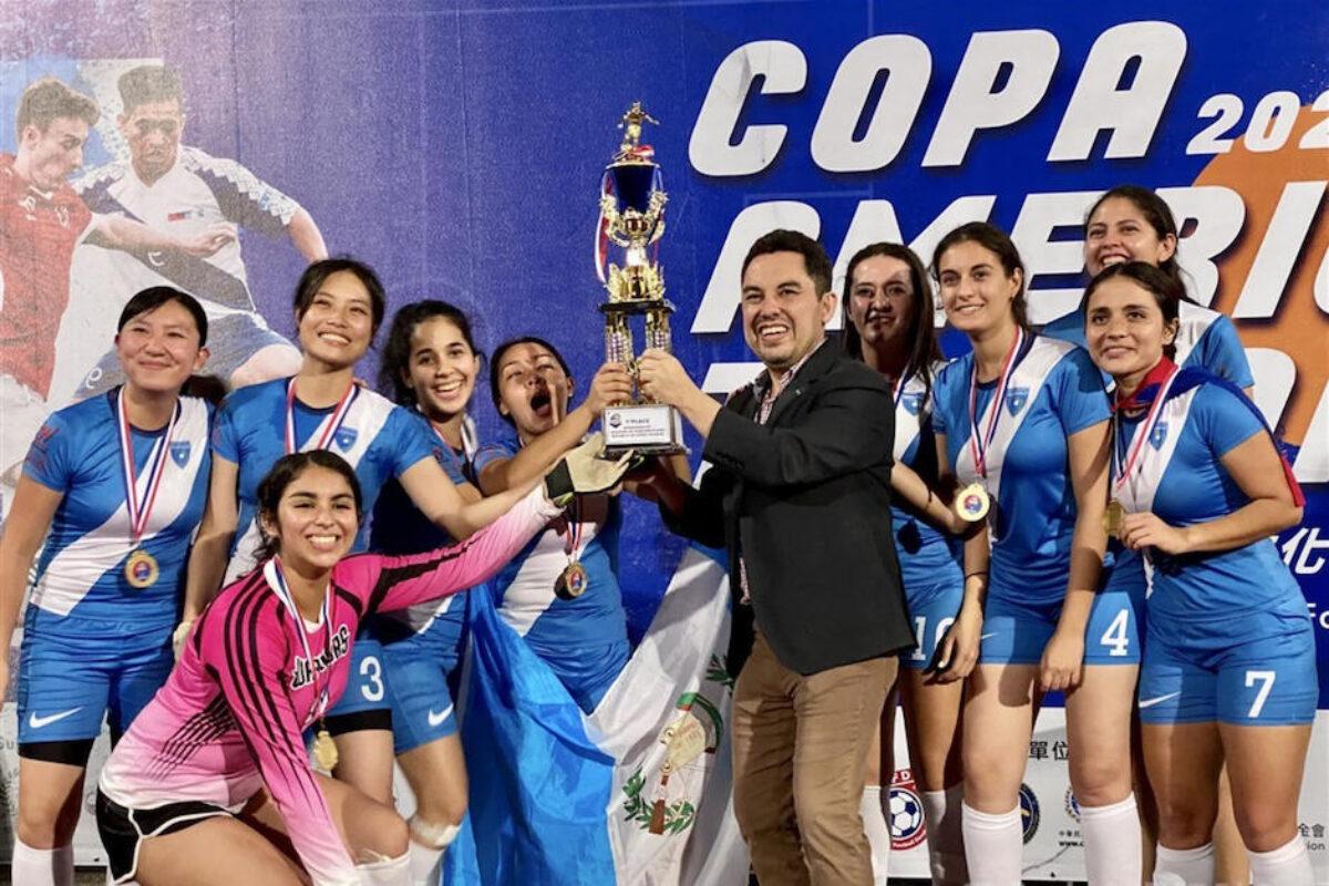 Equipo femenino guatemalteco gana copa en Taiwán