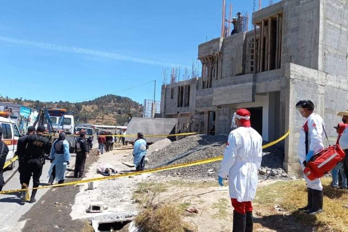 Mortal y aparatoso accidente en Salcajá