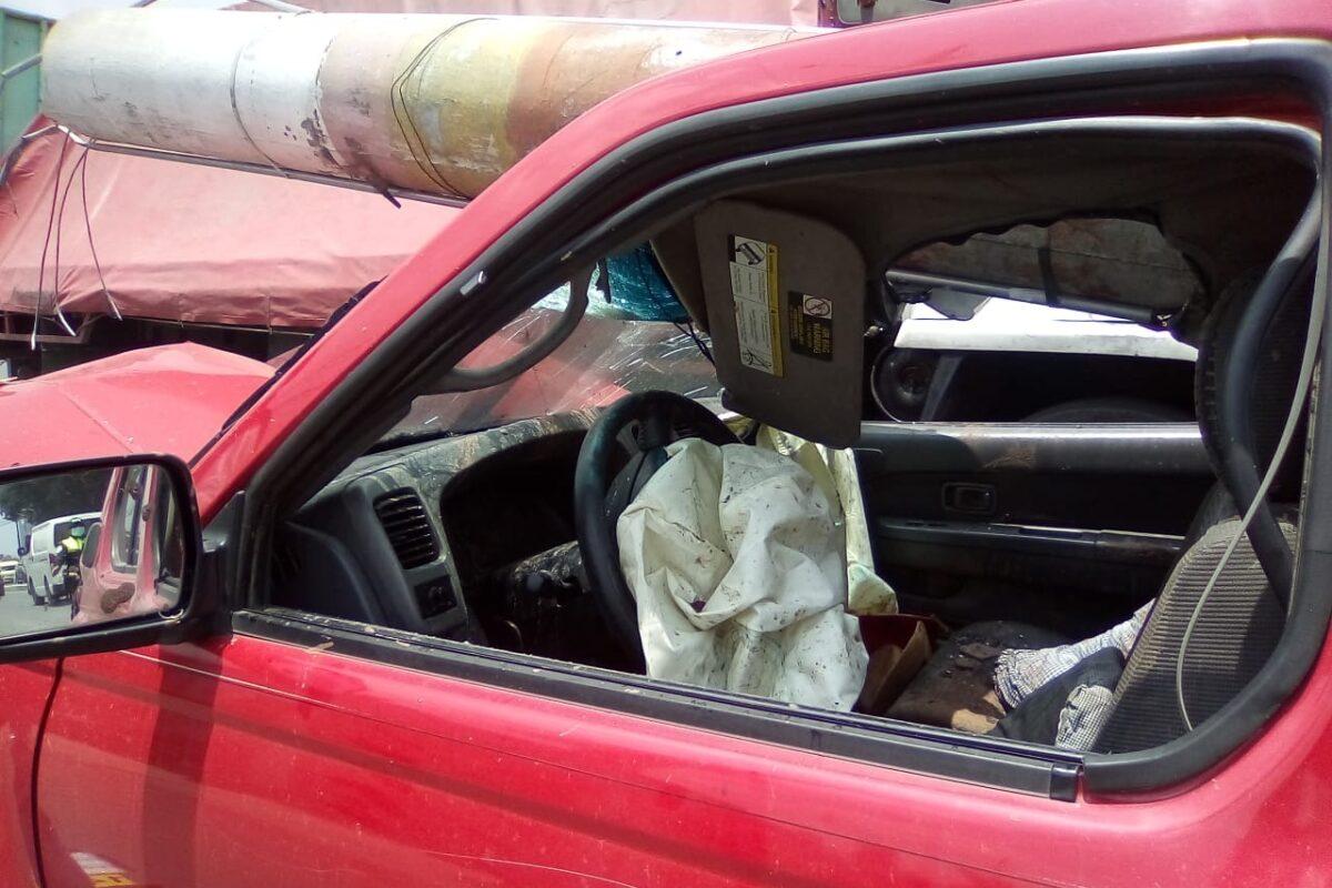 Detalles del accidente este día en la carretera que conduce a San Marcos