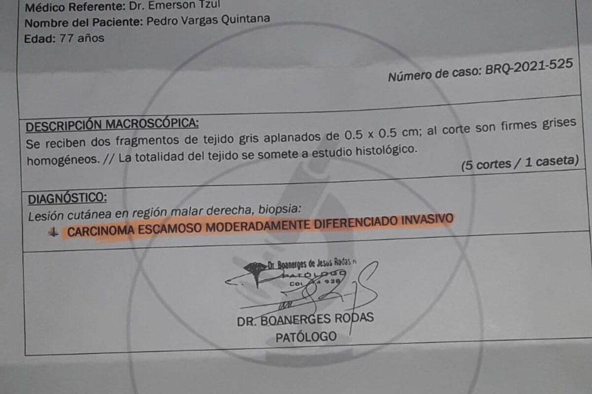 Solicitan ayuda médica para don Pedro, residente del barrio Santa Ana de Quetzaltenango