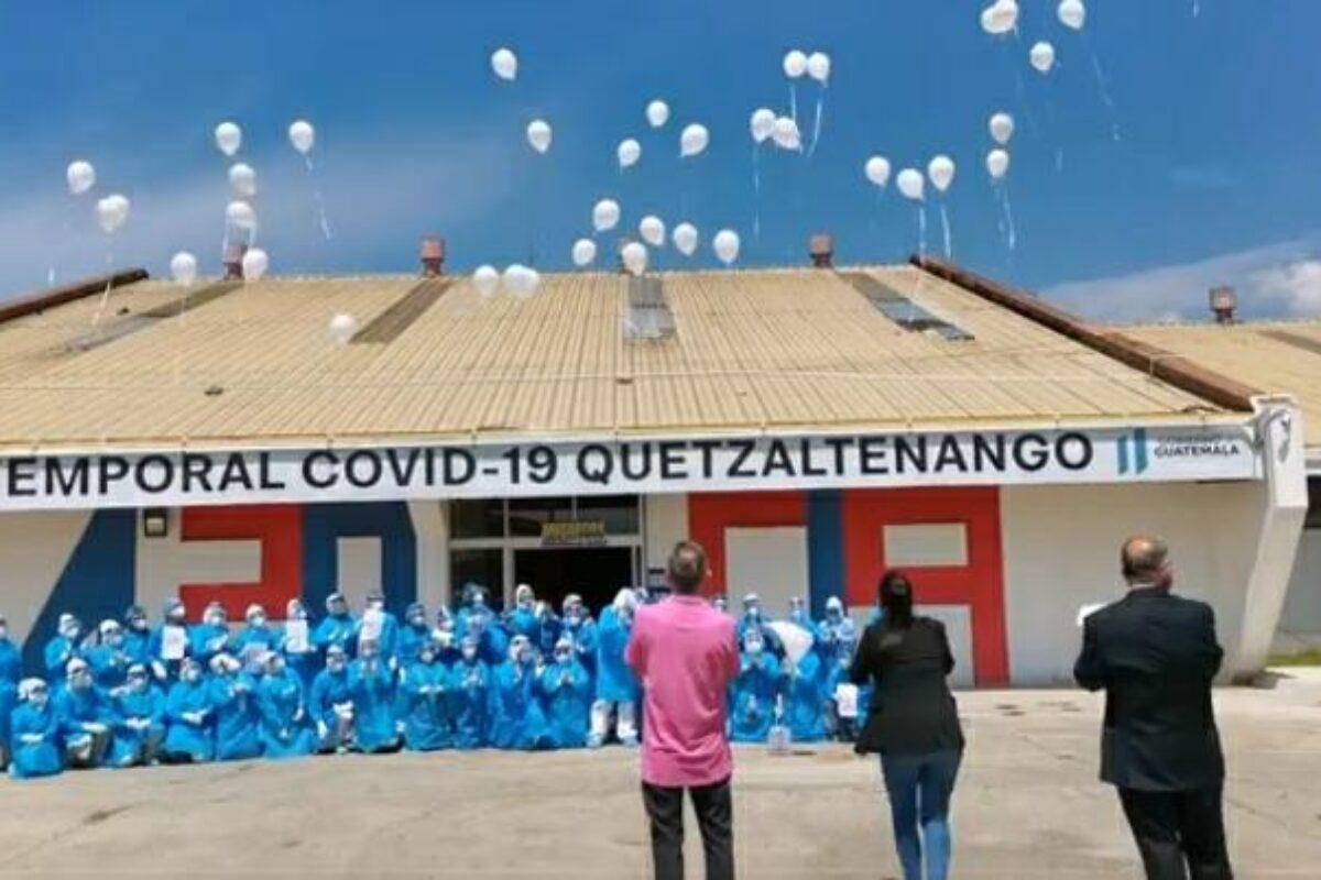 Hoy el Hospital Temporal de Xela cumple un año con más de 2 mil pacientes atendidos