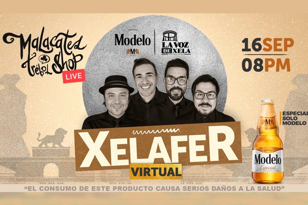 Esta noche es el concierto Xelafer Virtual con Malacates Trébol Shop