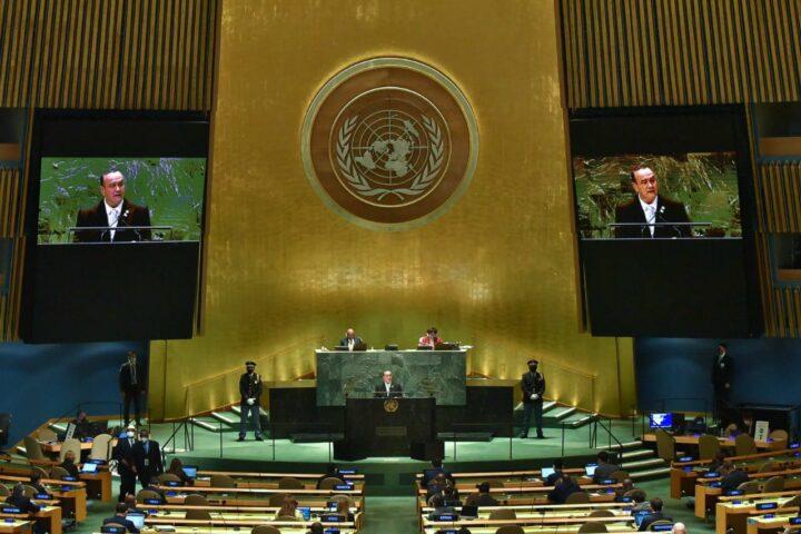 Primer participación de Giammattei en asamblea de la ONU
