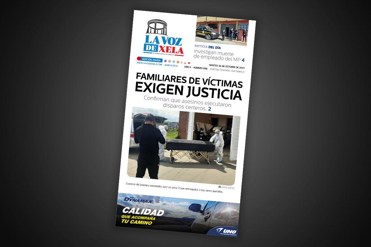 Lee el diario digital del martes 26 de octubre | #998